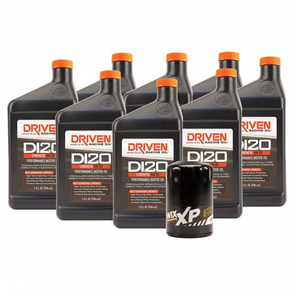 Driven Racing Oil - DI20 Oil Change Kit for Gen V GM Direct Injection Truck Engines (2014- 2018) w/ 8 Qt Oil Capacity