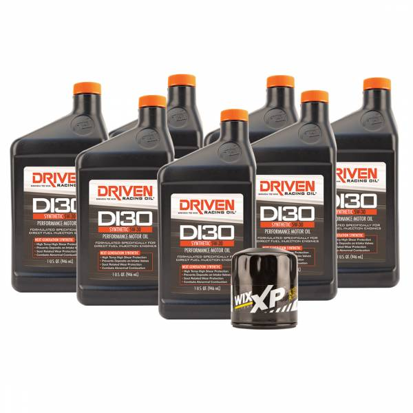 Driven Racing Oil - DI30 Oil Change Kit for 2014-2018 Corvette Stingray GM LT1 Engine w/ 7 Qt Oil Capacity