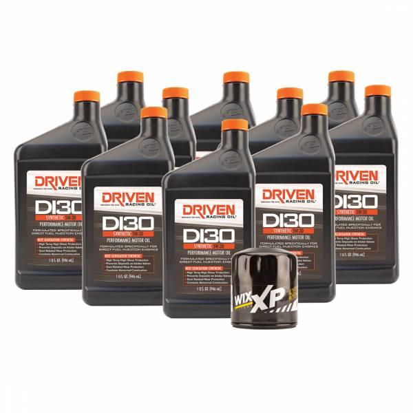 Driven Racing Oil - DI30 Oil Change Kit for Gen V GM LT1 & LT4 Engines (2014- Present) w/ 10 Qt Capacity