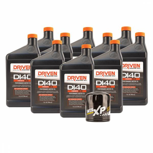 Driven Racing Oil - DI40 Oil Change Kit for 2019 Gen V GM LT1, LT4, & LT5 Engines w/ 10 Qt Capacity