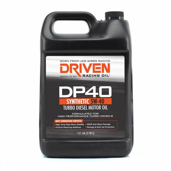 Driven Racing Oil - DP40 5W-40 Synthetic Turbo Diesel Oil - 1 Gallon