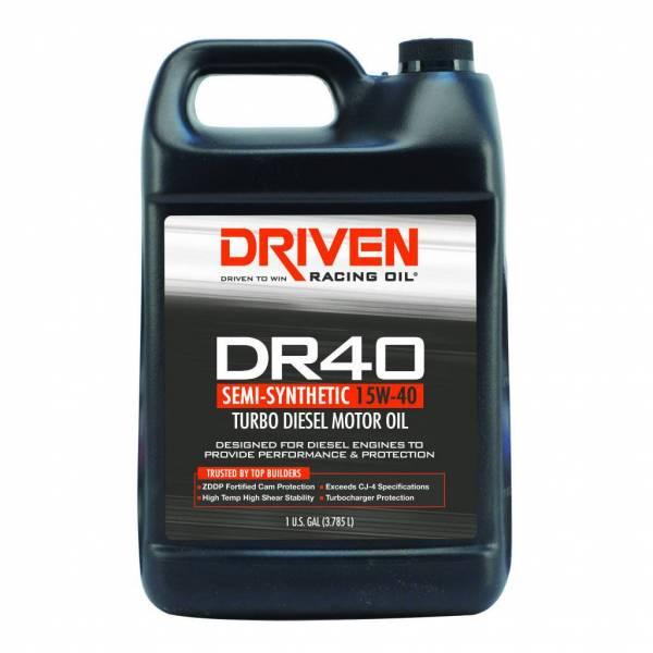 Driven Racing Oil - DR40 Turbo Diesel Oil 15W-40 - 1 Gallon