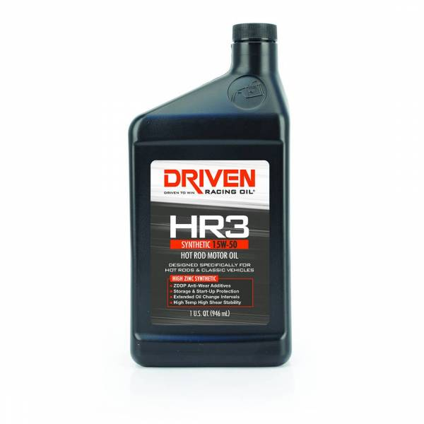 Driven Racing Oil - HR3 15W-50 Synthetic Hot Rod Oil