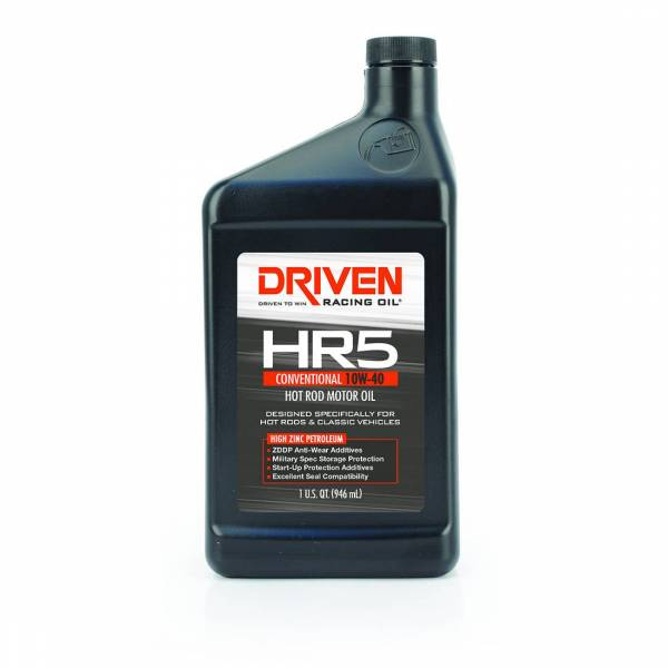 Driven Racing Oil - HR5 10W-40 Conventional Hot Rod Oil