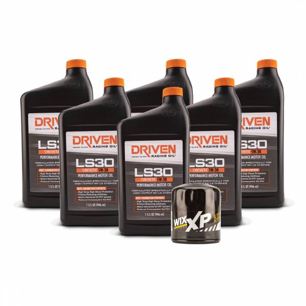 Driven Racing Oil - LS30 Oil Change Kit for Gen IV GM Engines (2007-Present) w/ 6 Qt Oil Capacity