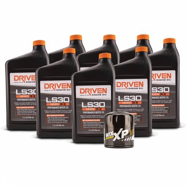 Driven Racing Oil - LS30 Oil Change Kit for Gen IV GM L77, L99, LS3, LS7 & LSA Engines (2007-Present) w/ 8 Qt Capacity