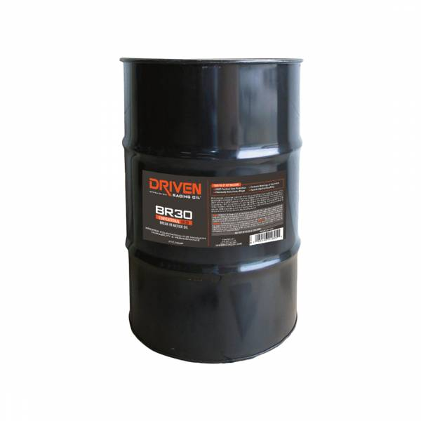Driven Racing Oil - BR-30 5W-30 Conventional Break-In Oil - 54 Gal. Drum