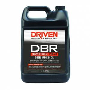 Performance/Turbo Charged Diesel (Exceeds CI4 & Older API Spec) - DRIVEN Break-In Engine Oil - Driven Racing Oil - DBR 15W-40 Conventional Diesel Break-In Oil - 1 Gallon
