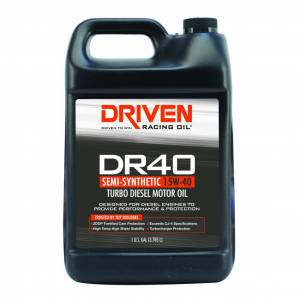 Performance Diesel/Turbo Charged Diesel with Particulate Filter (Exceeds CJ4 API Spec) - DRIVEN Engine Oil - Driven Racing Oil - DR40 Turbo Diesel Oil 15W-40 - 1 Gallon
