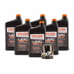 Shop By Product - Street Performance Oils - Driven Racing Oil - LS30 Oil Change Kit for Gen III GM Engines (1997-2006) w/ 6 Qt Oil Capacity
