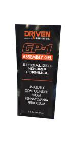 2 Barrel Late Model - DRIVEN Break-In Engine Oil - Driven Racing Oil - GP-1 Assembly Gel, 1oz Packet